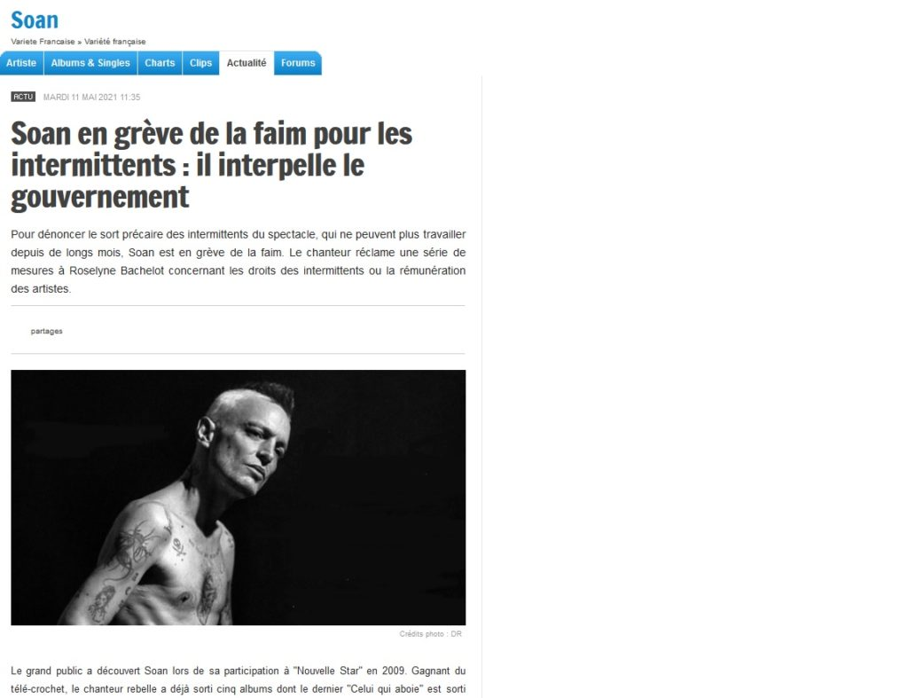 Soan article Charts in France